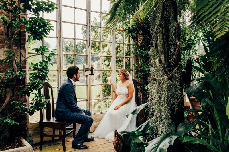 Wedding at Woburn Sculpture Gallery, UK